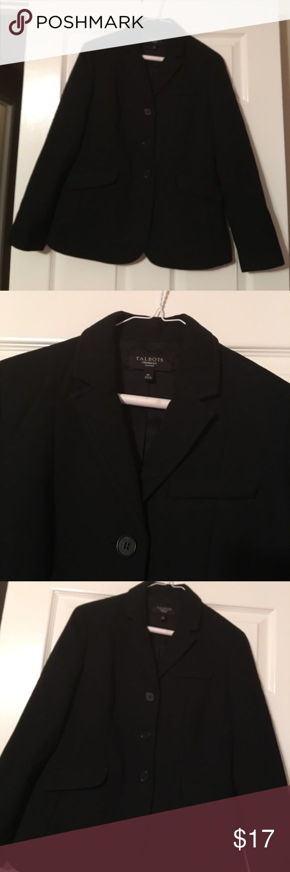 TALLBOTS sexy black blazer sale Beautiful must have for the fashionable career lady. Barely worn and great fit Talbots Jackets & Coats Blazers