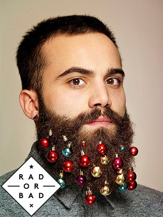 These hot lumberjack-like dudes are saying hello to beard ornaments