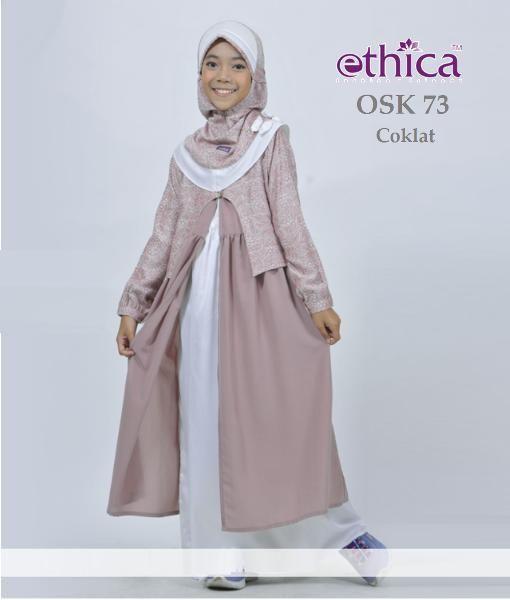Jual Beli Baju Gamis Anak Ethica Osk 73 Coklat Size 10 Big Sale