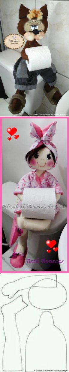 Muñecos Porta-rolos de papel higiénico