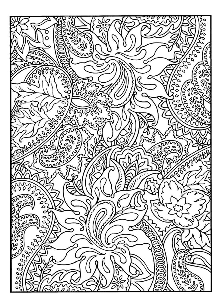 Free Coloring Page Adult Pretty Patterns Plant Drawing To Colour