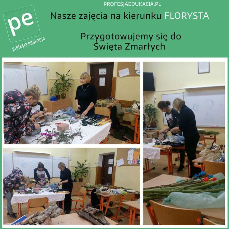Nasze zajęcia na kierunku #FLORYSTA ! Przygotowujemy się do święta zmarłych http://www.profesjaedukacja.pl/ #profesjaedukacja #warszawa #edukacja