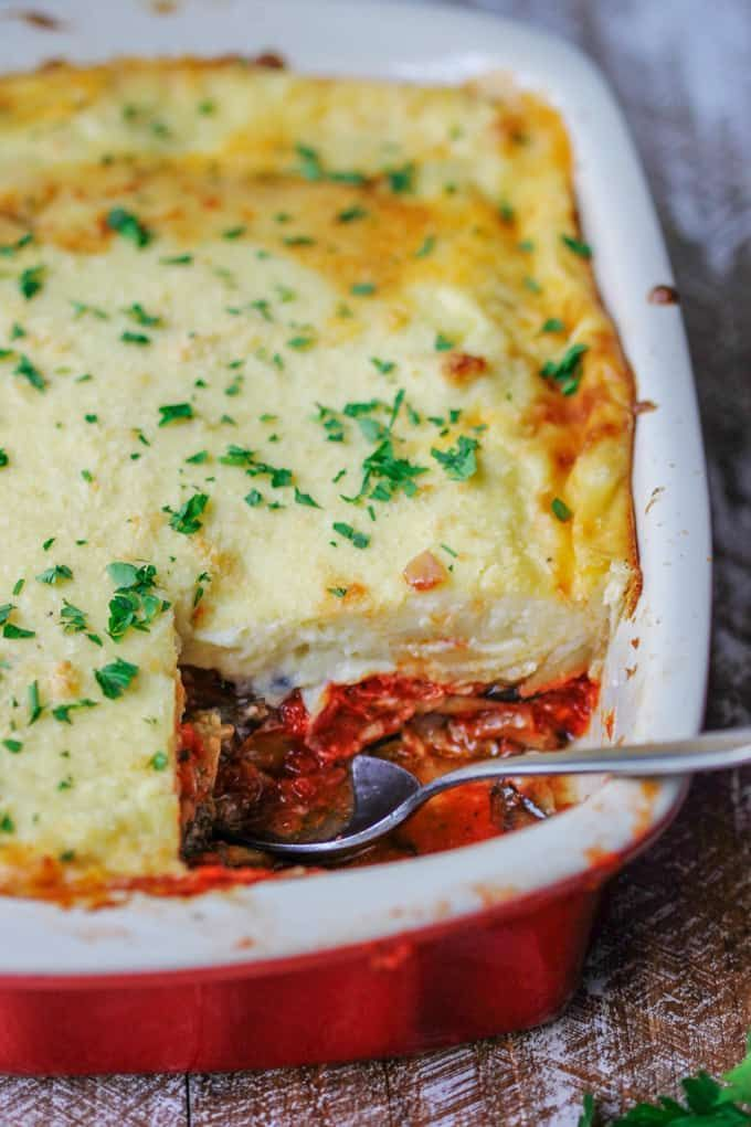 Vegetarian Moussaka Classic Greek Casserole Eating European Recipe Moussaka Recipe Vegetarian Greek Recipes Vegatarian Recipes