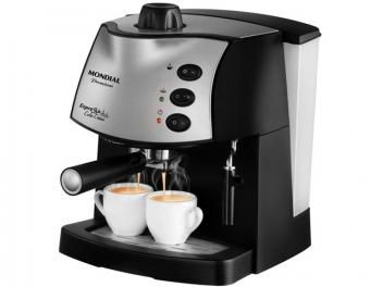 Cafeteira Elétrica Expresso - Mondial Coffee Cream Premium C-08  De R$ 399,90 - Por R$ 349,90   em até 7x de R$ 49,99 sem juros no cartão de crédito  ou R$ 314,91 à vista (9% Desc. já calculado.)