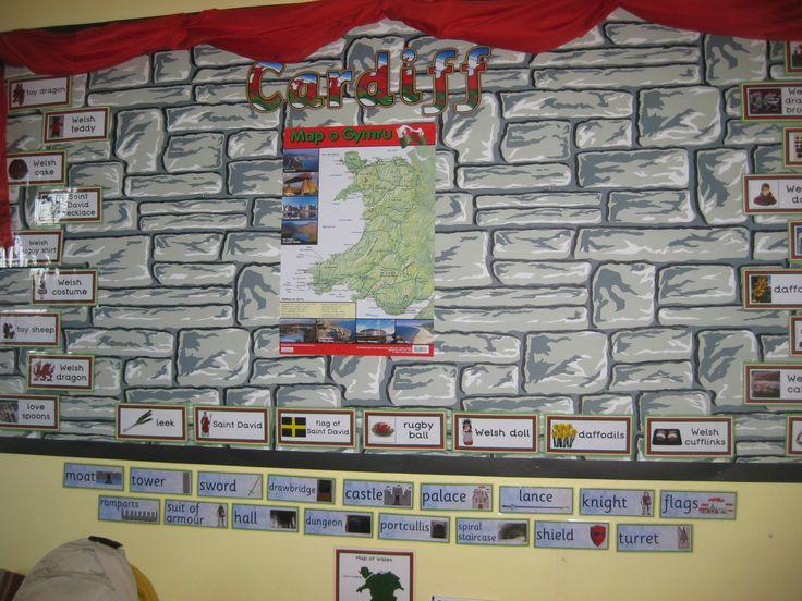 Castle classroom display board