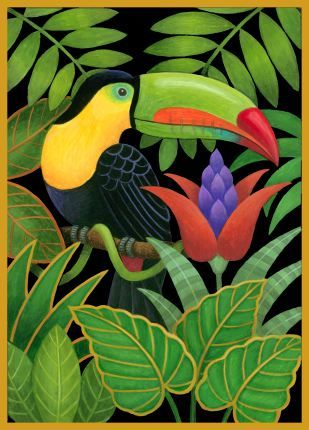 """Toucan and Flowers,"" Stephanie Stouffer"