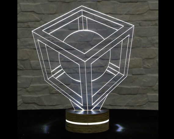 Sphere Shape, 3D LED Lamp, Acrylic Lamp, Art of Light, Home Decor, Artistic Lamp, Night Light, Table Light, Office Decor, Nursery Light by ArtisticLamps
