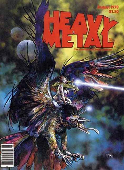 Heavy Metal Magazine Covers 1978Auguste 1978, Magazines Art, Metals Auguste, Covers 1978, Metals Covers, Covers Art, Magazines Covers, Metals Magazines, Heavy Metals