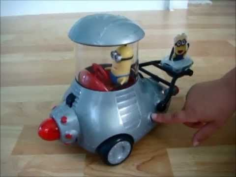Despicable Me 2 - KIDS NEW TOY - Minion Mobil with Remote Control - Minions talk & sing - Review - YouTube