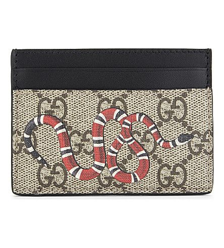 0bf5576e GUCCI Bestiary Leather Card Holder. #gucci #wallets | Gucci Men ...