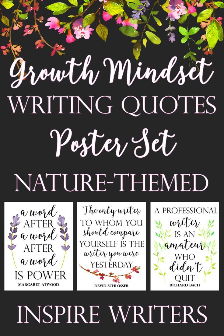 Growth Mindset Writing Quote Posters: Nature-Themed | Growth