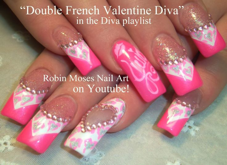 Nail-art by Robin Moses - Valentine Diva