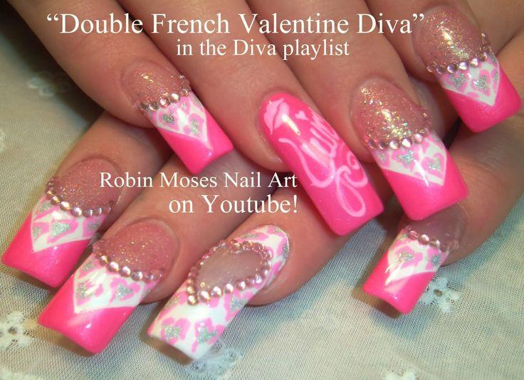 Nail-art by Robin Moses - Valentine Diva