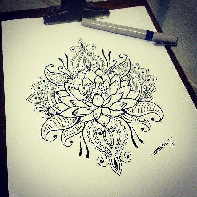 Las 25 mejores ideas sobre flor de loto en pinterest y m s for Nas mural queens