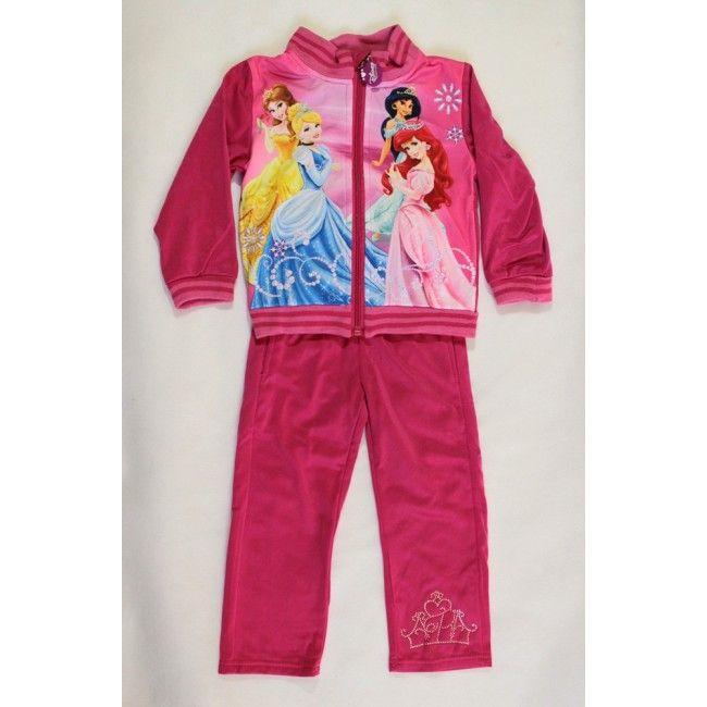 Hercegnők sötét rózsaszín melegítő együttes Akciós áron 3500 Ft-ért kapható.