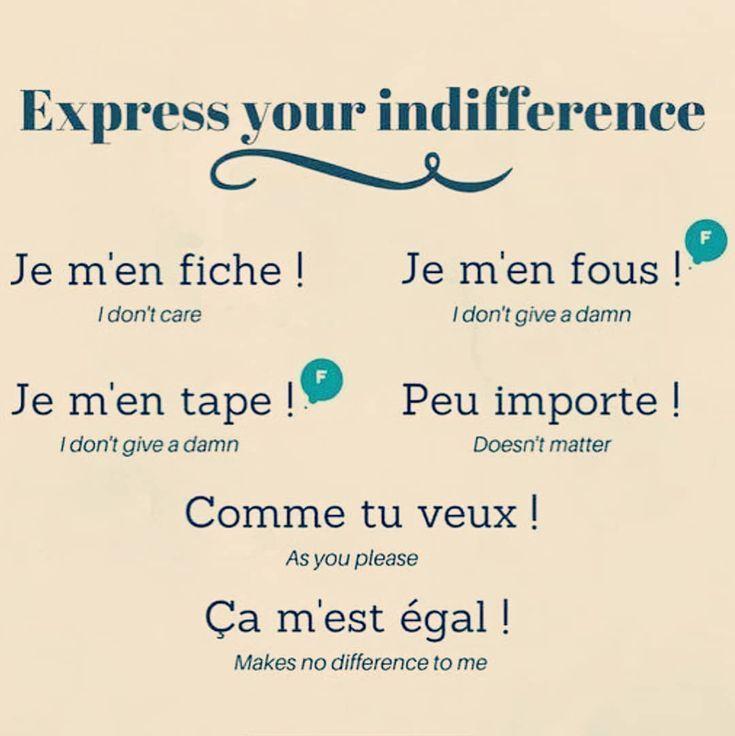 """Learn French on Instagram: """"Je m'en fous ! 😂 …"""