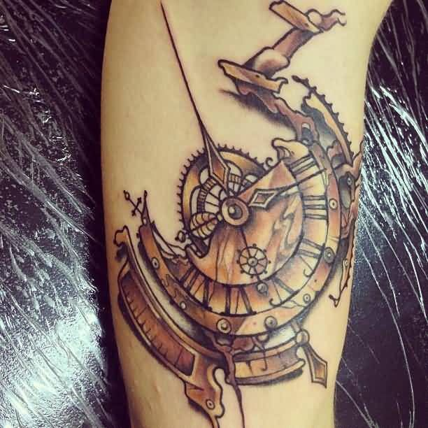 34 Best Broken Clock Tattoo Images On Pinterest