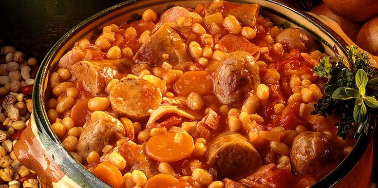 Cassoulet espagnol recette for Plats facile a cuisiner