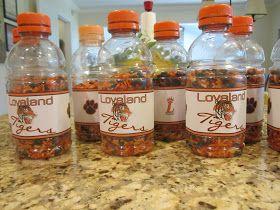 Gael's Crafty Treasures: Team Spirit Bottle Noise Makers