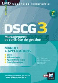 Alain Burlaud et Muriel Jougleux - DSCG 3 Management et contrôle de gestion - Manuel & applications. - Agrandir l'image