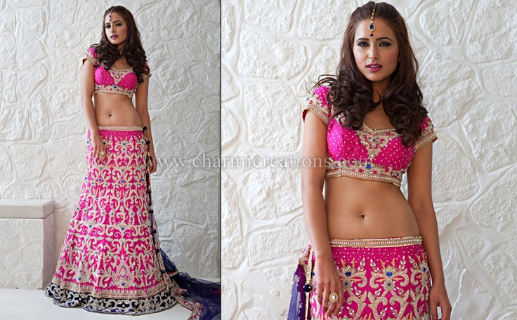 Pink Lengha by Charmi Creations