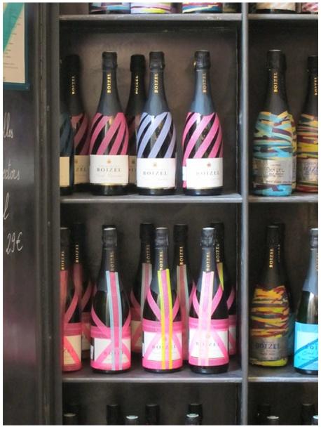 Washi-tape embellished bottles