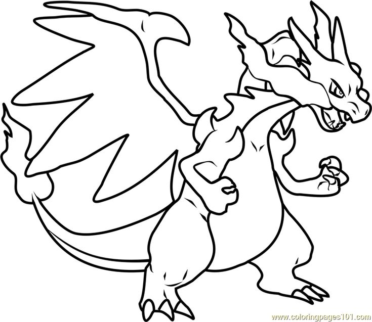 mega charizard coloring pages Mega Charizard X Pokemon printable coloring page for kids and  mega charizard coloring pages