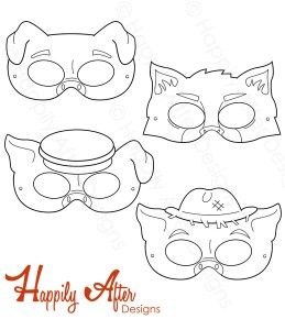 Three Little Pigs Printable Coloring Masks