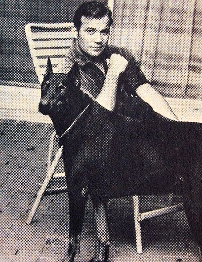 William Shatner and one of his Dobies