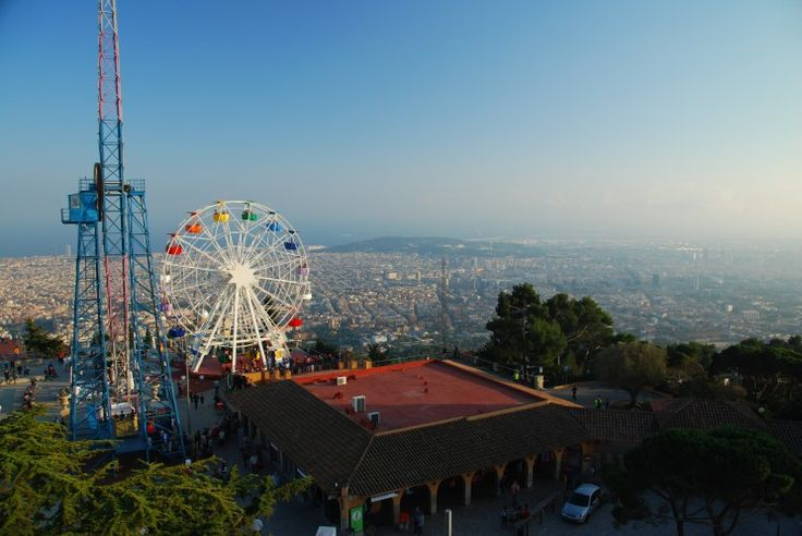 #TIBIDABO #MOUNTAIN AND ITS #AMUSEMENT #PARK  #family #activities #culture #touristic #attractions #SagratCorChurch #barcelona