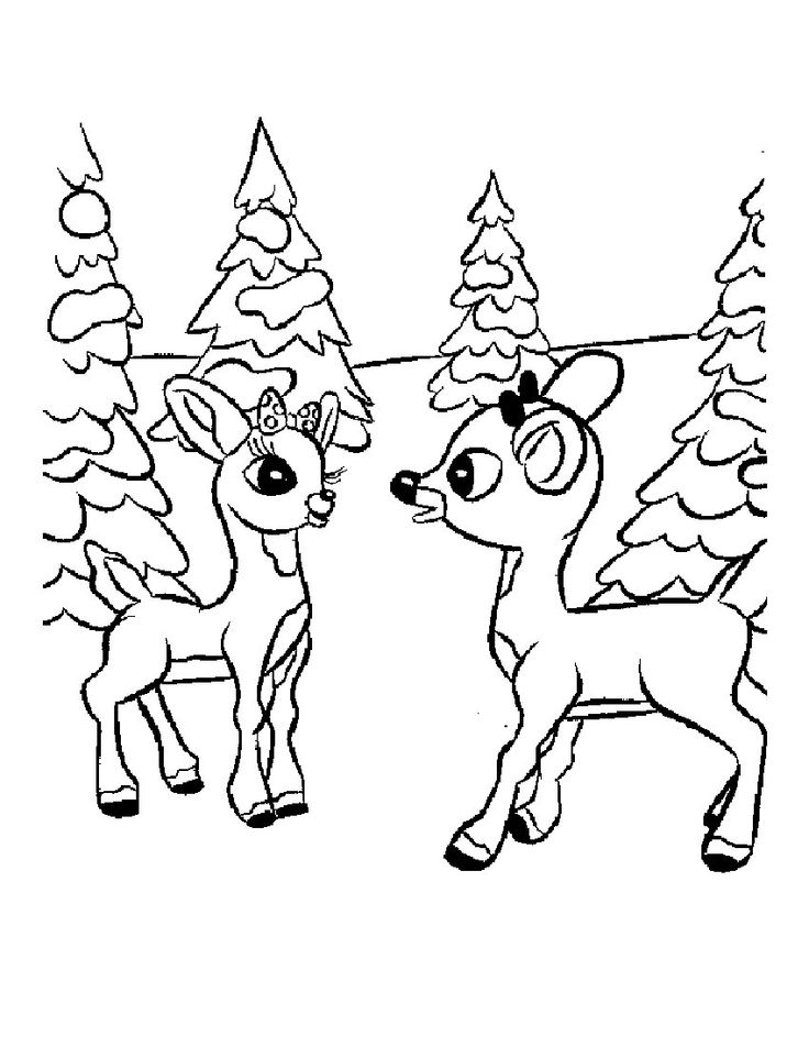 rudolph and clarice coloring page