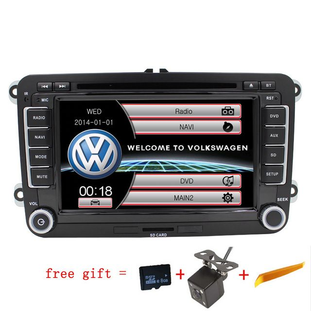 2Din Auto Radio Car DVD Player for Volkswagen VW Passat B5 B6 Polo Golf  Multimedia Stereo GPS Navigation Touch Screen Bluetooth