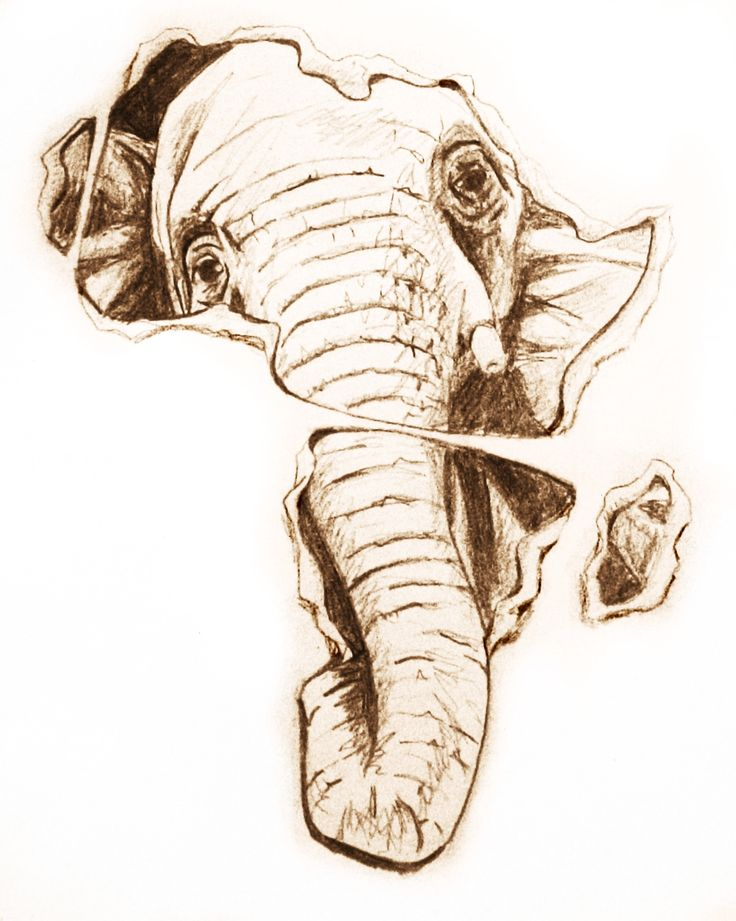 african elephant tattoo design | ink | Pinterest | Posts ...