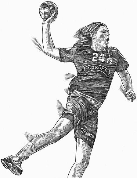 Another Danish Hansen, this one a handball player practicing his craft in Barcelona, was the subject of yet another full page image