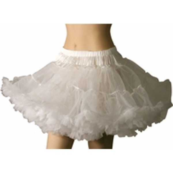 """- Soft and fluffy tulle fabric - Nylon elastic waist (fits waist sizes 22"""" to 36"""") - Approximately 16"""" long - Great for saloon and victorian style costumes - SKU: CA-005784"""