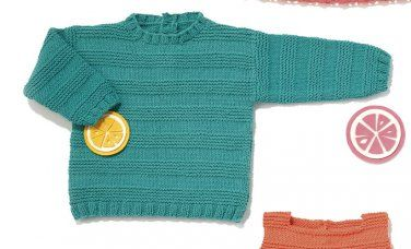 Tijdschrift Baby 80 Lente / Zomer   50: Baby Trui   Smaragdroen