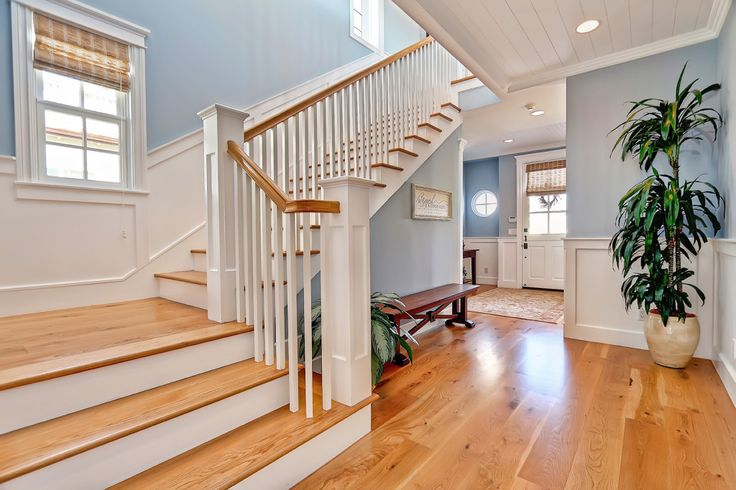 A traditional Cape Cod home will feature wood floors throughout and crown molding. Wainscoting is purely decorative today, and walls are painted in a palette that reflects the Cape Cod coast, with interior doors and trimmings painted white>> http://www.southbaydigs.com/dig-this-style-cape-cod/