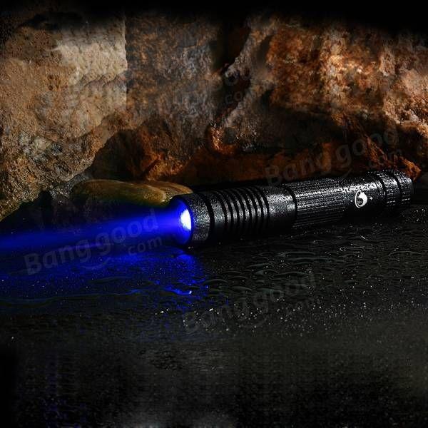 U King ZQ-012B 450nm Blue Light High Power Beam Laser Flashlight With EU Charger
