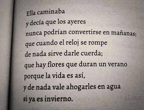 Los ayeres no sirven para mañanas./  Elvira Sastre