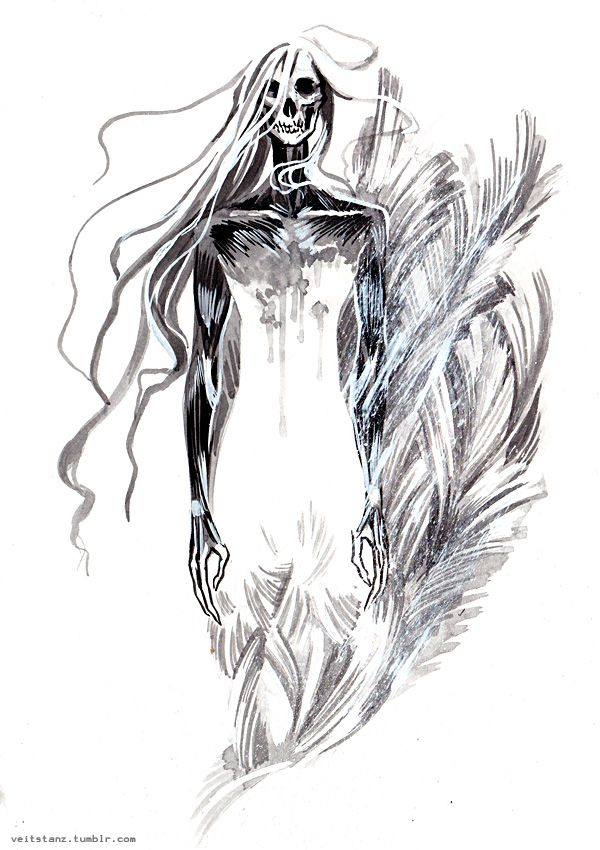 """veitstanz:  """" Inktober 31 • THE SNOW QUEEN • Character of my own  We call it the snow queen but only because we don't know its name.  """""""