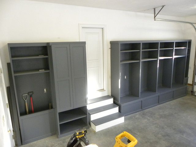 storage lockers in the garage | good for shoes & sports gear