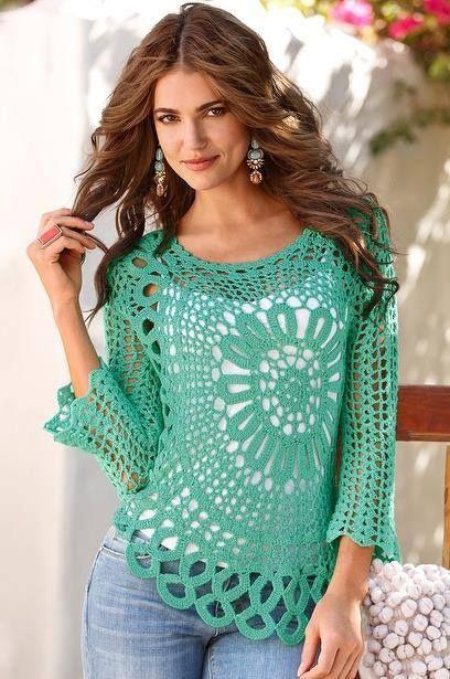 Materiales gráficos Gaby: Camisolas en crochet