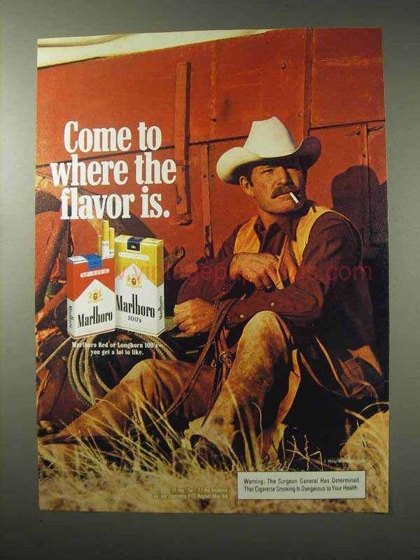 27c2be82e106c 1984 Marlboro Cigarettes Advertisement - Where the Flavor Is ...