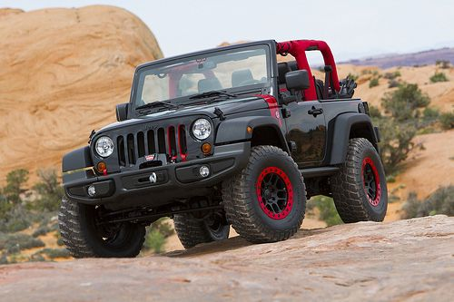 BLACK--RED Jeep Wrangler  _____________________________ Reposted by Dr. Veronica Lee, DNP (Depew/Buffalo, NY, US)