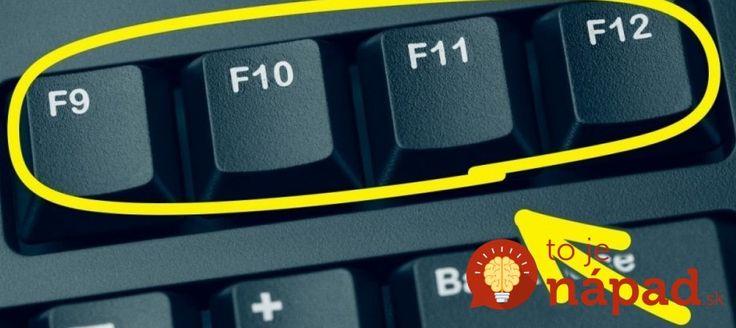 Mnohí z nás poznajú pár klávesových skratiek, no o úplnom využití klávesnice a jednotlivých kláves nevieme toho ešte veľa. Napríklad, čo sa týka kláves F1 až F12. Niektoré z nich majú pritom skvelé využitie, o akom by ste mali určite vedieť.