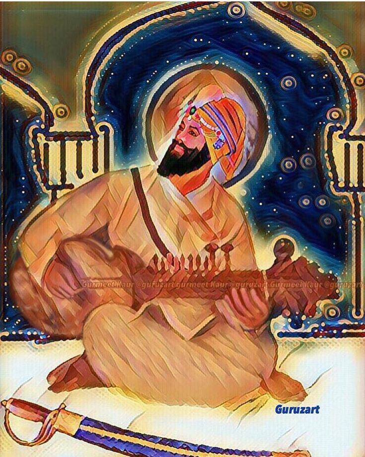 (From @guruzart ) ROOH DAR HAR JISM GURU GOBIND SINGH NOOR DAR HAR CHASHM GURU GOBIND SINGH... (Guru Gobind Singh Is The Soul Of Everyone He Is The Light Of Every Eye..) Portraying one of the several other dimensions of Sahib-E-Kamaal Sri Guru Gobind Singh Ji Maharaj. May his blessings shower on all of us #gurugobindsinghji #khalsa #350saalaprakashpurab #sikh #sikhism #shabad #ekonkar #satnaam #waheguru #sikhgurus #baani #meditation #faith #god #guru #spiritual #punjabi #instapunjabi…