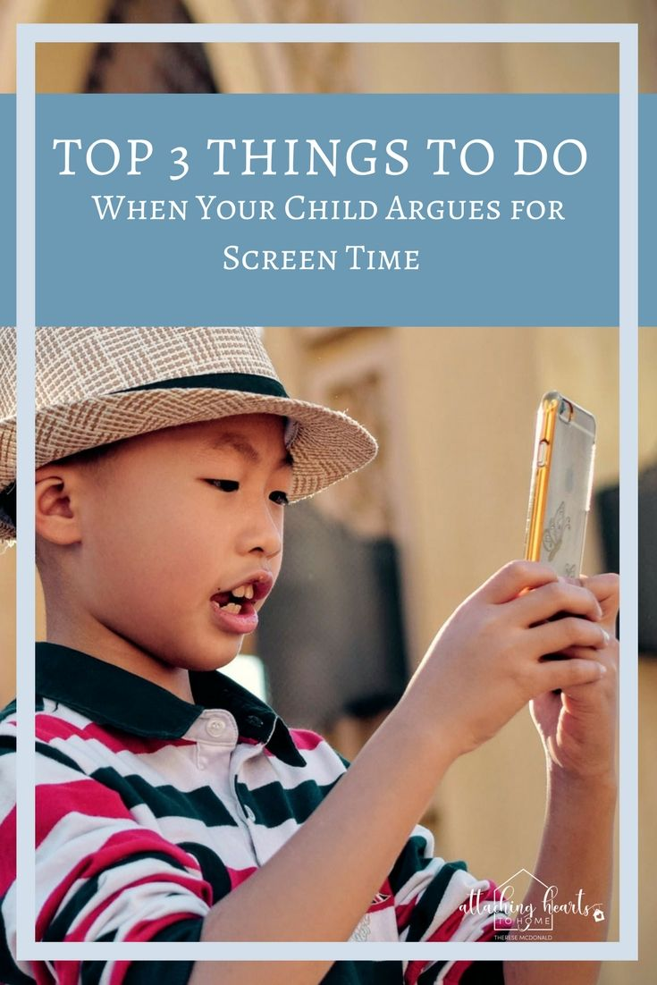 Does your child nag, whine or beg for more screen time? Here's 3 things you can do when your child argues for more screen time  https://www.attachingheartstohome.org/blog/