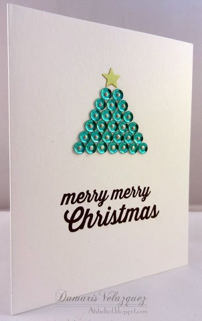 CAS Card. Christmas card. Sequins.