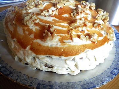 Apple Walnut Caramel Cake *