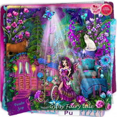 Gypsy Fairy Tale by Desclics  Available @ http://www.paradisescrap.com/fr/91_desclics